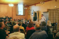 Guest Speaker Inside Wolferton Social Club